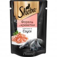 Корм для кошек «Sheba Pleasure» с форелью и креветками в соусе, 85 г.