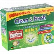Таблетки для посудомоечной машины «Clean & fresh» 29 шт.