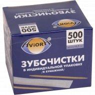 Зубочистки из бамбука в индивидуальной упаковке «Aviora» 500 шт.