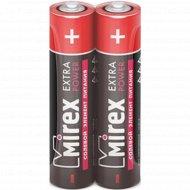 Батарейка солевая «Mirex» R03 AAA, ER03-S2, 1.5V, 2 шт.