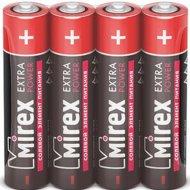 Батарейка солевая «Mirex» R03 AAA, ER03-S4, 1.5V, 4 шт.