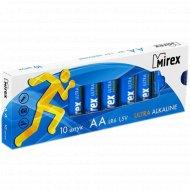 Батарейка щелочная «Mirex» R6 AA, LR6-M10, 1.5V, 10 шт.