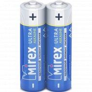 Батарейка щелочная «Mirex» R6 AA, LR6-S2, 1.5V, 2 шт.
