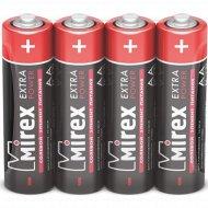 Батарейка солевая «Mirex» R6 AA, ER6-S4, 1.5V, 4 шт.