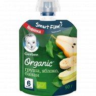 Пюре фруктовое «Gerber Organic» груша, яблоко, банан, 90 г.