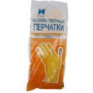 Хозяйственные перчатки из латекса, размер M.