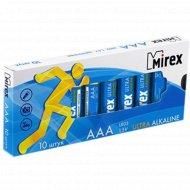 Батарейка щелочная «Mirex» R03 AAA, LR03-M10, 1.5V, 10 шт.