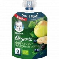 Пюре «Gerber Organic» фруктово-ягодный микс, 90 г.