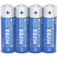 Батарейка щелочная «Mirex» R6 AA, LR6-S4, 1.5V, 4 шт.