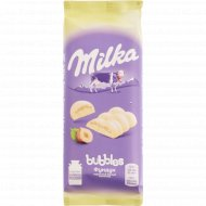 Шоколад белый пористый «Milka Bubbles» с фундуком, 79 г