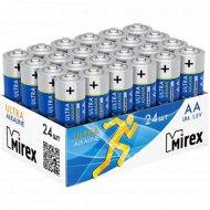 Батарейка щелочная «Mirex» R6 AA, LR6-B24, 1.5V, 24 шт.