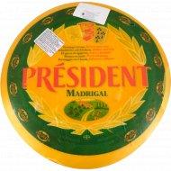Сыр твердый «Мадригал» 48%, 1 кг, фасовка 0.25-0.3 кг