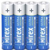 Батарейка щелочная «Mirex» R03 AAA, LR03-S4, 1.5V, 4 шт.
