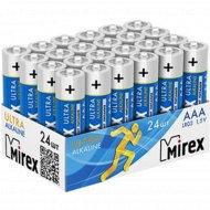 Батарейка щелочная «Mirex» R03 AAA, LR03-B24, 1.5V, 24 шт.