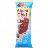 Мороженое «Alpen Gold» с хрустящим рисом и солеными шариками, 58 г.