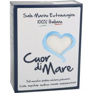 Cоль морская пищевая йодированная «Cuor Di Mare» мелкая, 1 кг.