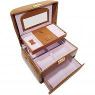 Шкатулка для бижутерии «Мон Ами» CX7305, коричневая