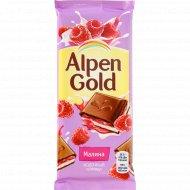 Шоколад «Alpen Gold» с малиновой начинкой, 85 г.