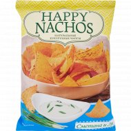 Чипсы кукурузные «Happy Nachos» со вкусом сметаны и лука, 75 г