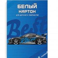 Набор белого картона «Машина» А4, 8 листов.