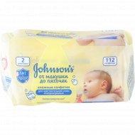 Салфетки влажные «Jonson's Baby» детские, 112 шт.