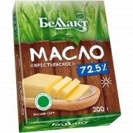 Масло сладкосливочное «Беллакт» Крестьянское, несоленое, 72.5%, 200 г