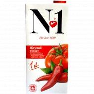 Сок томатный «№ 1» с красным перцем, 1 л.