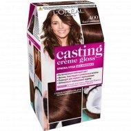 Краска-уход «L'Oreal» Casting Creme Gloss, каштановый.