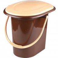 Ведро-туалет коричневый, 17 л.