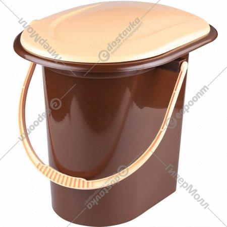 Ведро-туалет, коричневое, 17 л.