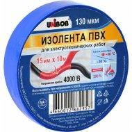 Лента изоляционная ПВХ «Unibob» синяя, 15 мм х 10 м.