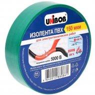 Лента изоляционная ПВХ «Unibob» зеленая, 15ммх10м.