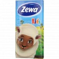 Салфетки бумажные «Zewa» Прикосновение хлопка детские, 10 платочков.