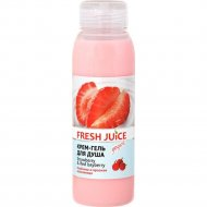 Крем-гель для душа «Fresh Juice» strawberry & red bayberry, 300 мл.