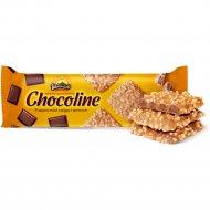 Печенье шоколадное «Шоколайн» в карамельной глазури с арахисом, 200 г.