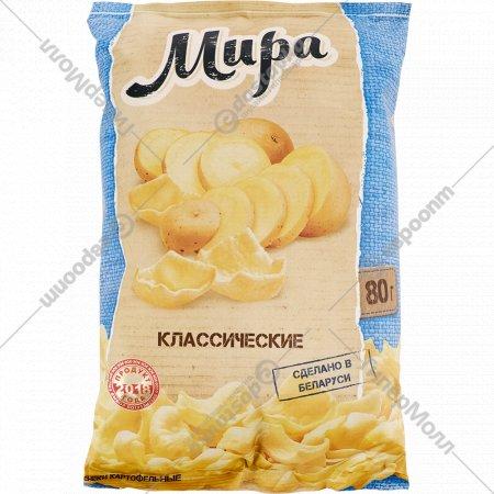 Снэки картофельные «Мира» классические 80 г.