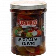 Оливки черные и зеленые «Италия микс» без косточки в масле, 180 г.