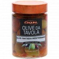 Оливки черные и зеленые с косточкой «Средиземноморская фантазия» 340г.