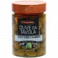Оливки зеленые «Калабрийские» с косточкой, 330 г.
