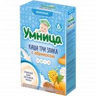 Каша детская, молочная «Умница» из 3 злаков, c абрикосом, 200 г.