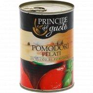 Томаты целые очищенные «Principe Del Gusto» в томатном соке, 400 г.
