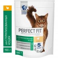 Корм сухой «Perfect Fit» для стерилизованных кошек с курицей, 190 г