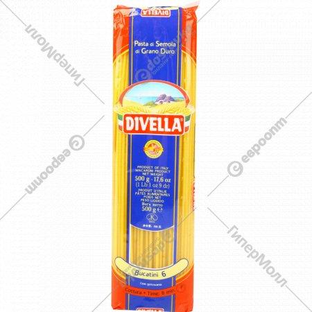 Макаронные изделия «Divella» №6 букатини, 500 г.