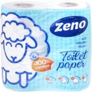 Бумага туалетная «Zeno Lux» Blue Soft, двухслойная, 4 рулона.