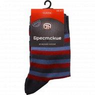 Носки мужские, темно-серые - темно-бордовые, 25 размер.