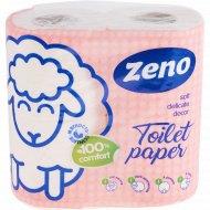 Бумага туалетная «Zeno» Lux pink, двухслойная, 4 рулона.
