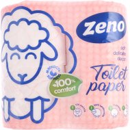Бумага туалетная «Zeno» Lux pink, двухслойная, 4 рулона
