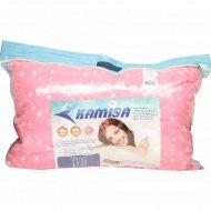 Подушка спальная «Kamisa» 38 х 58 см белая, стеганая.