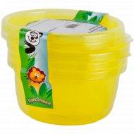 Комплект контейнеров для продуктов детских 0,25л, 3 шт.