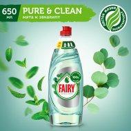 Средство для мытья посуды «Fairy» Pure&Clean мята и эвкалипт, 650 мл